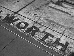 Worth (12Jeepgirl~Never look back...) Tags: urban eastvillage sign photoshop blackwhite downtown metro entrance olympus iowa sidewalk adobe desmoines lightroom ep2 cs4