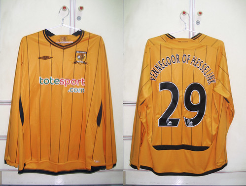 Hull City 2009-2010 Home L/S (VENNEGOOR OF HESSELINK)