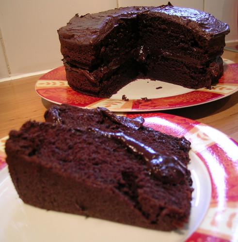 Moist Chocolate Cake Boozy Frosting