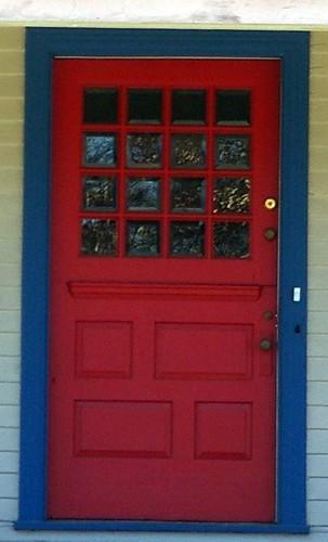 J.R. Owens residence front door