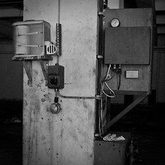 The Seismograph (NickChino) Tags: bw plant abandoned crust rust factory decay empty greece machinery textile urbanexploration derelict patras urbex patra        urbexeurope urbexgreece