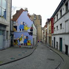 Comic Strip Capital (polbar) Tags: brussels belgique belgi bruxelles comicstrip bd streetshot bandedessine blondin bd cirage jij