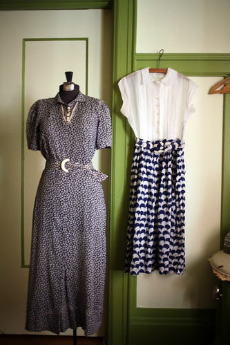 Blue and White Dresses