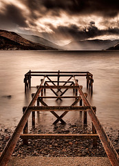 Loch Earn Storm (ajnabeee) Tags: longexposure light sky storm mountains clouds perfect stirling jetty perthshire shoreline windy stormy pebbles gales lottery perth rays approaching ferocity capturingthemoment lochearnhead lochearn stfillians shahbazmajeed