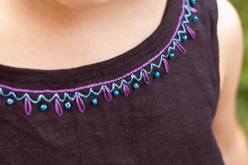 Embroidered Collar Detail