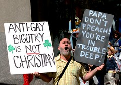 Easter Protesting in front of Saint Patrick's Cathedral