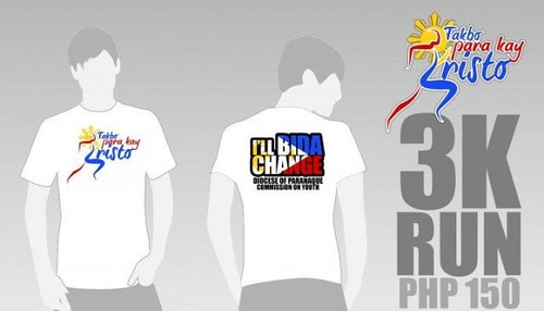Takbo Para Kay Kristo 2010 - singlet and shirt 3k
