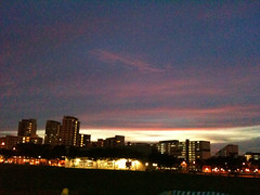 Hougang Central Sunset (gurms) Tags: pink sunset sky orange evening purple hdb hougang