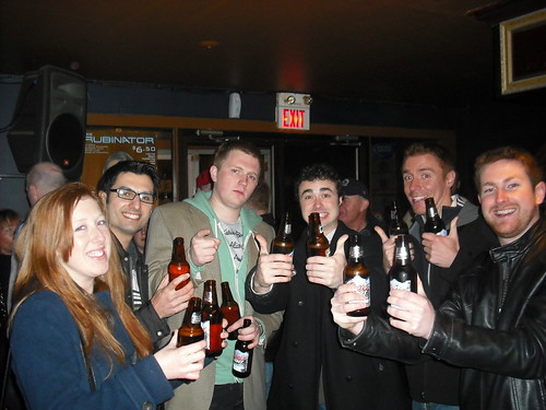 Arent I lucky to be surrounded by so many beers? I mean boys.