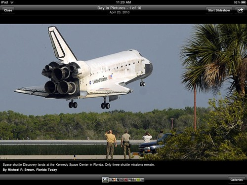 USA TODAY for iPad: Space Shuttle Landing