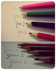 It's YOU (♥ Minnie | Photography ♥) Tags: cute love pencil writing paper colorful you flickraward flickrestrellas mcobj