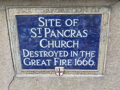 Photo of St. Pancras Church blue plaque