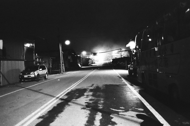 晚上的南山村