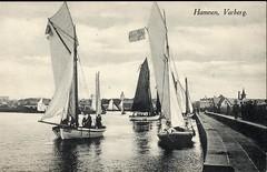 Hamnen i Varberg (kvw500) Tags: postcard varberg segelbåt sailingboat halland vykort varbergshamn varbergvykort