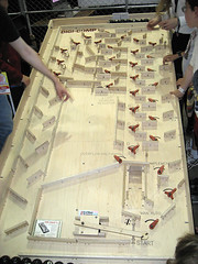 Digi-Comp II, the wooden computer (pr0digie) Tags: computer wooden mechanical plywood 8balls makerfaire digicompii