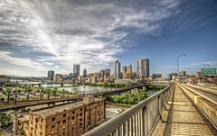Pittsburgh skyline from Liberty Bridge HDR (Dave DiCello) Tags: leaves photoshop river nikon colorful day cloudy parkway nik hdr highdynamicrange sunflare monongahelariver threeriversartsfestival libertybridge steelcity photomatix yinzer cityofbridges theburgh pittsburgher niksoftware d700 pittsburghartsfest thecityofbridges pittsburghphotography davedicello photoshopcs5 pittsburghcityofbridges steelscapes hdrexposed picturesofpittsburgh cityofbridgesphotography