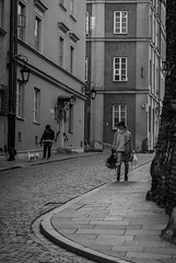 Streets of Warsaw (dressk) Tags: warsaw poland polska europe city street blackwhite bw black white nikon d40x nikond40x travel