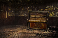 The Lonely Tune of The Blue's Piano (jackalope22) Tags: piano desolation decay room blues schoolhouse jazz hadows textures tones