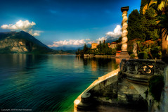 A Villa along Lake Como (MDSimages.com) Tags: travel italy lake como nikon europe lakecomo hdr topaz varenna photopainting travelphotography photomatix paintereffect michaelsteighner mdsimages topazsimplfy