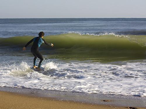 Javi buscando la ola