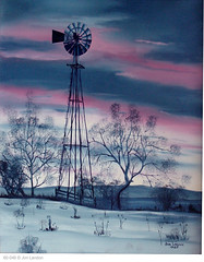 Windmill At Sunset (thegreatlandoni) Tags: sunset sky usa cloud art windmill america painting photography cool artwork colorado artist photographer unitedstates sony memories denver canvas memory oil americana mavica amateur distillery memorabilia oilpainting landon ourtime adobephotodeluxe highlandsranch omot landoni mvccd1000 thegreatlandoni jimlandon ourmemoriesourtimes amateuroilpainting