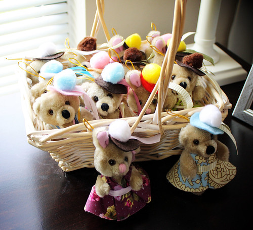 Dressed Up Bear and Bunny Ornaments