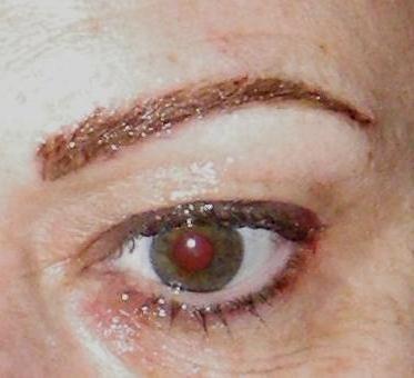 Hair-stroke brows.