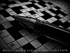 # The Black & White Moments -  18 = Photo Hub [ Explored-Oct 29, 2009 #94 ] ( Rizalman Kasman Photography) Tags: blackwhite flickr crossword flickraward flickrphotoaward seenbymyeyes theoriginalgoldseal
