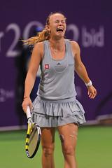 Caroline Wozniacki Crying (Ashraf Khunduqji) Tags: sport nikon ericsson sony championships cry 2009 d3 wta doha qatar wozniacki ashrafkhunduqji tenniscaroline