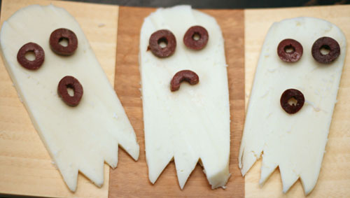 Spooky Cheese Ghosts