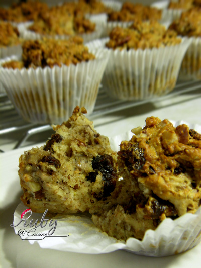 Walnut date muffin