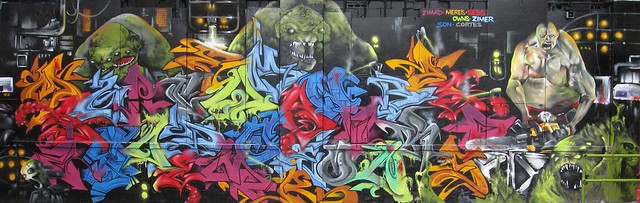 ZIMAD MONSTER WALL. ZIMAD / OWNS / ZYMER / SEBS / CORTEZ / MERES / SON 1