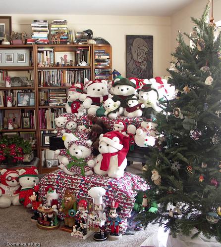 Christmas tree and Santa Bears 1