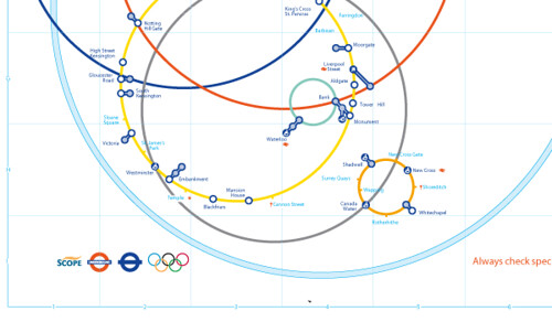 2012 London Olympics - Alternative TFL London Underground Tube Map Design Proposal