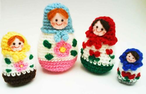 Amigurumi Russian Doll Pattern : Ravelry russian matryoshka amigurumi babushka dolls pattern by