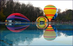 Two Up ,Two to Go (delitefulimage) Tags: vacation sky holiday reflection chicken water festival reflections balloons mirror edenpark mirrorlake balloon flame hotairballoon reflexions hotairballoons gety ysplix delitefulimage mayorspick