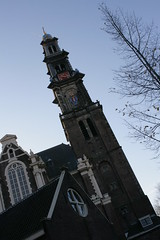 Westerkerk (Fred_T) Tags: tree church netherlands amsterdam canon rebel europe cathedral chapel belltower spire protestant westerkerk xti westernchurch