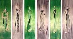ESSENCE (BIGMAMHA) Tags: africa verde green paint grigio african gray donne draw ethnic disegno olio tela womans dipinto etnico