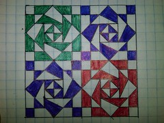 I was bored so I drew this. (4thfullmoon) Tags: geometric me ink bored doodled