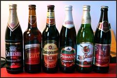 A Collection of Czech Beers (Oscar von Bonsdorff) Tags: summer english beer june juni canon dark heineken golden prague pheasant cerveza ale prag praha praga tschechien velvet pale czechrepublic samson 2009 photographing praag rpubliquetchque xsi pivo l olut staropramen breweries lif tsjechi tjekkiet inbev repblicacheca  keskuu 13 zlat repubblicaceca cehia esko zlatopramen tjeckien csehorszg budjovick pivovar tsekki ern prg 450d nchod cechia 11 tkkland mansk  svijansk  tmav ekcumhuriyeti primtor baant svijany tehhi tmavy ynphobblaghtheck vepn knna