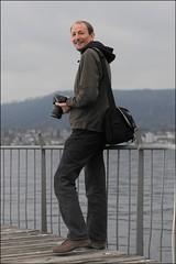 Ian at Badi Tiefenbrunnen (victor*f) Tags: wood club zurich platform photowalk bathing trigger badi skyport tiefenbrunnen elinchrom zuerisee strobist englishforum sb900