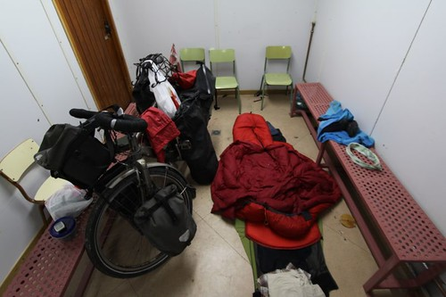 The inside of the changing room I crashed in Castell de Ferro