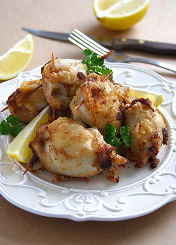 Mushroom Stuffed Squids