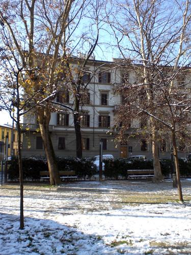Prima neve in piazza