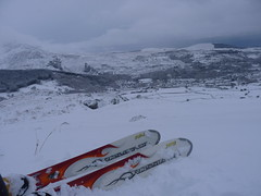 Snow around Bethesda, North Wales
