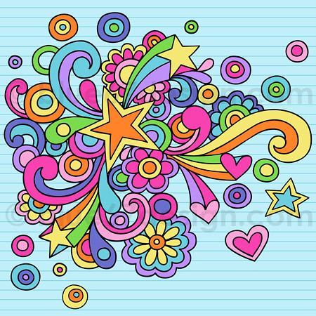 Hand-Drawn Notebook Doodle Abstract Star- Vector Illustration by ...