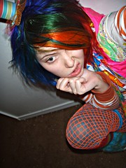BANG!! (Megan is me...) Tags: blue red portrait orange green apple colors rose shirt scarf self hair photography diy mixed eyes colorful paint neon pretty colours russell candy bright handmade turquoise oneofakind ooak finger meg violet plum knit megan flame fabric iguana jerome mandarin colored dye limelight tee mayhem punky dyed napalm specialeffects sfx rosered megface bluehairedfreak meganisme meganyourface