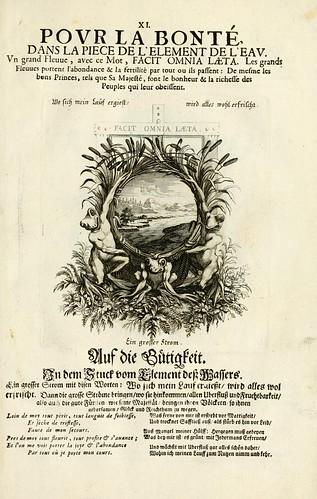 014-- Divisa del tapiz el agua para la bondad-Tapisseries du roy, ou sont representez les quatre elemens 1690- Sebastien Le Clerc