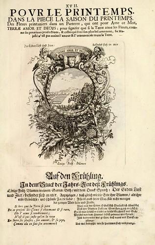 019- Divisa 1 del tapiz primavera-Tapisseries du roy, ou sont representez les quatre elemens 1690- Sebastien Le Clerc