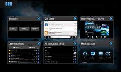 Nokia N900 application switcher